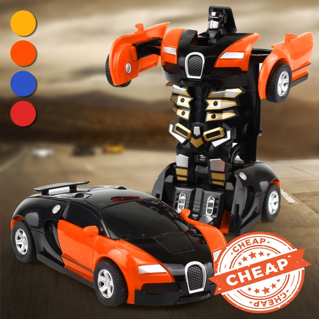 1:32 Pull Back The Collision Car Children Deformation Car Robot Toy For Child