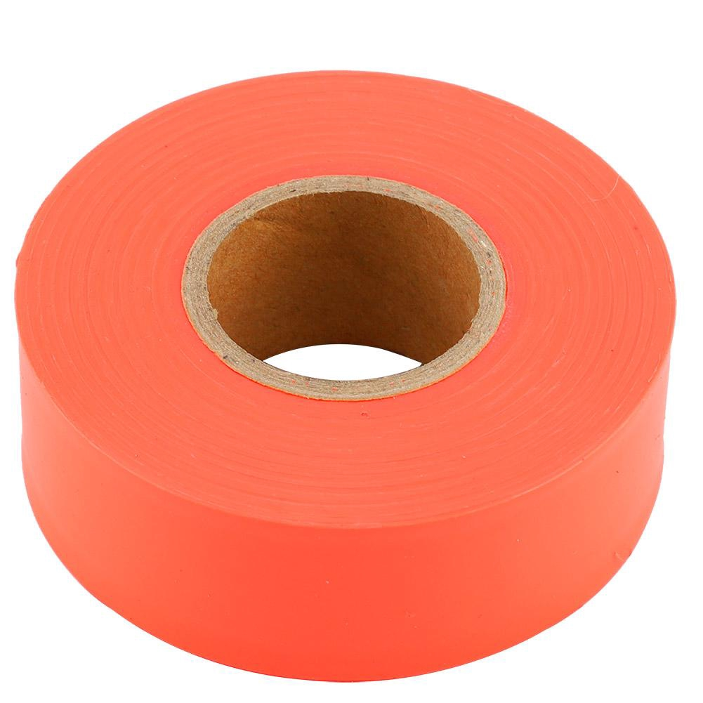 Non Adhesive Flagging Tape Marking Ribbon Trail Marker Bright Colored Pink