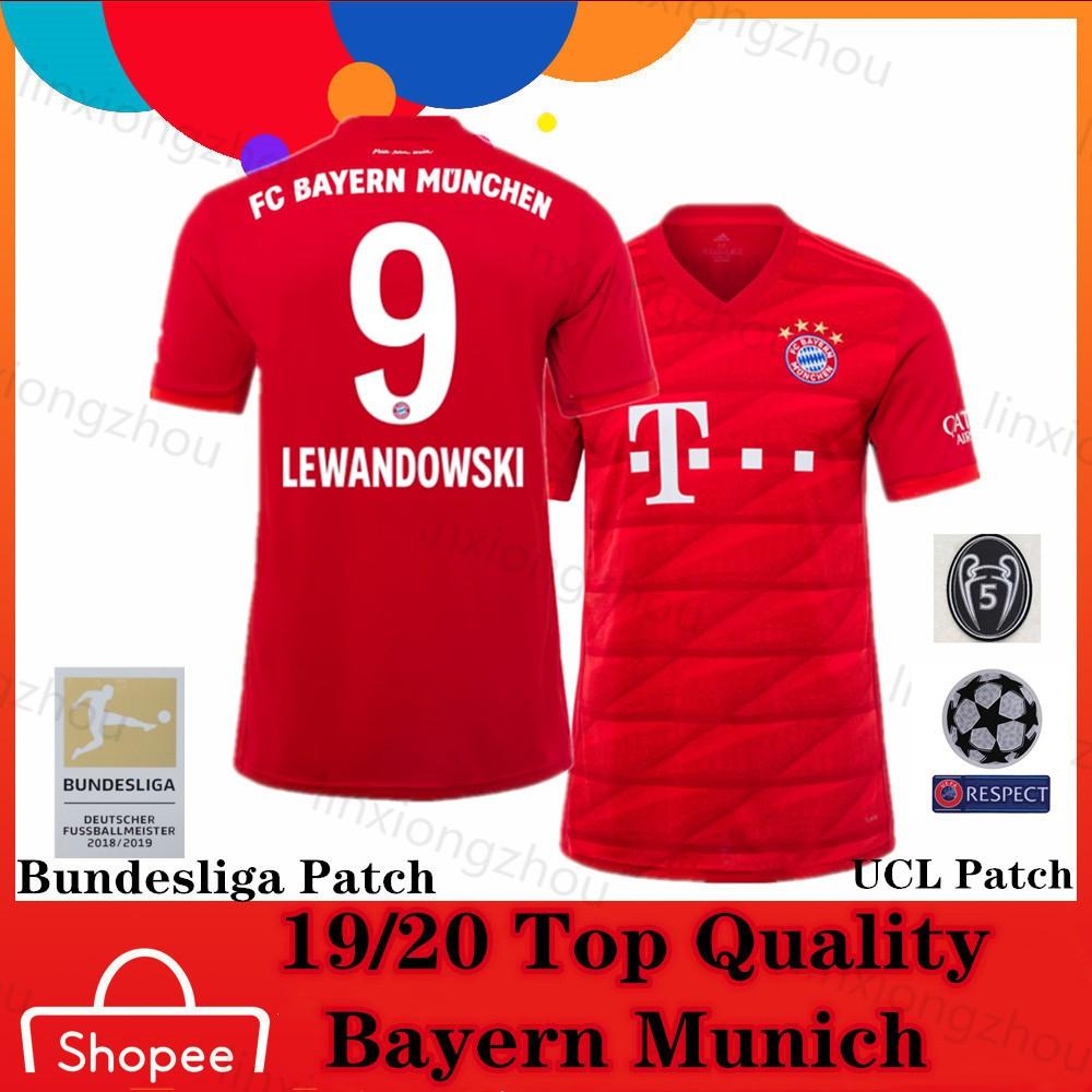 Top Quality 19 20 Bayern Munich Home Soccer Jersey Football Jersey Shopee Singapore