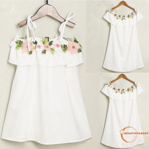 Mother Daughter Summer Casual Floral Striped Long Maxi Dress Sundress Skirt Gown