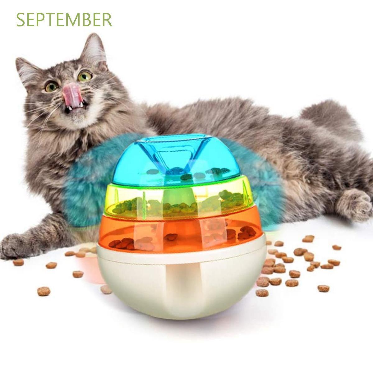 September Funny Treat Toys Cat Food Dispenser Food Leaking Ball Puzzle Interactive Rainbow Slow Feeder Dog Pet Tumbler Rainbow Shopee Singapore