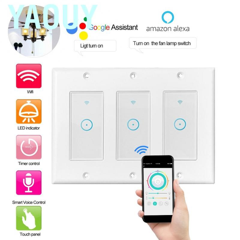 WiFi Light Switch Works With Alexa The Google Assistant And Apple Home 1//2//3CH