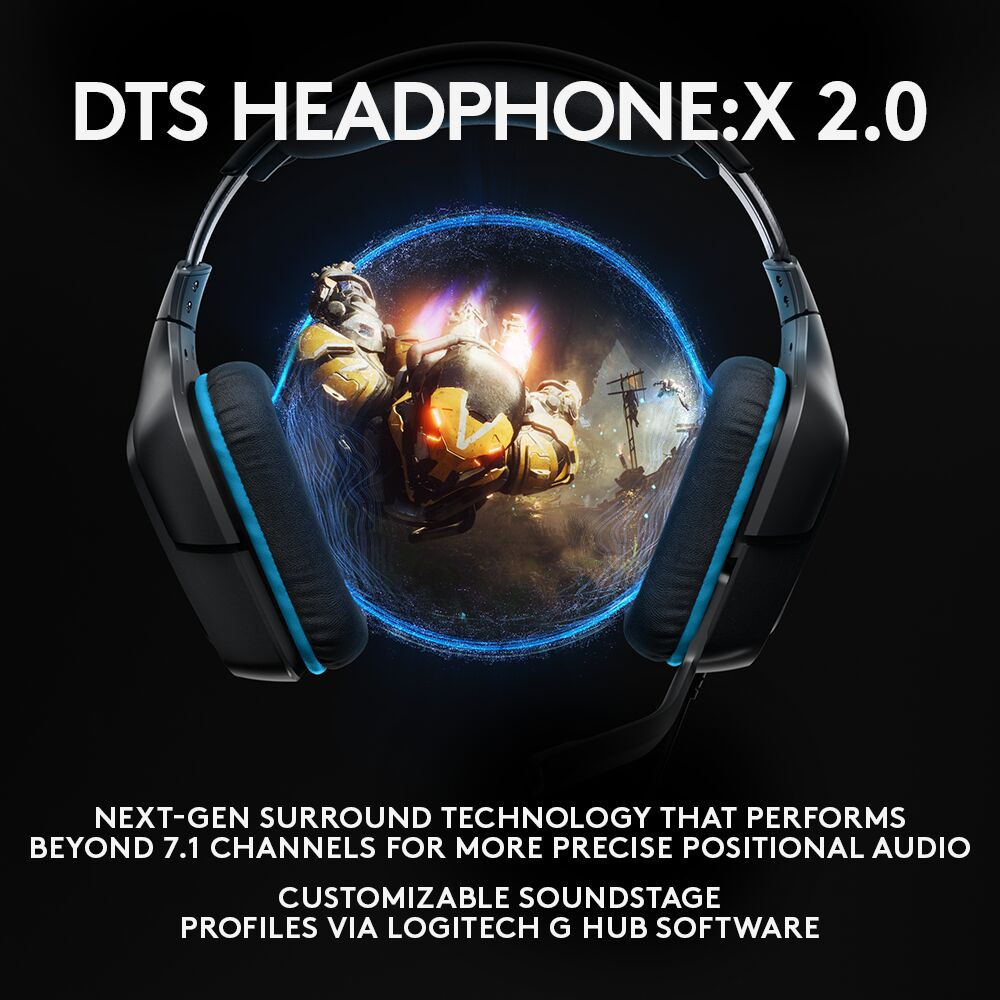 Logitech G431 7 1 Surround Sound Wired Gaming Headset