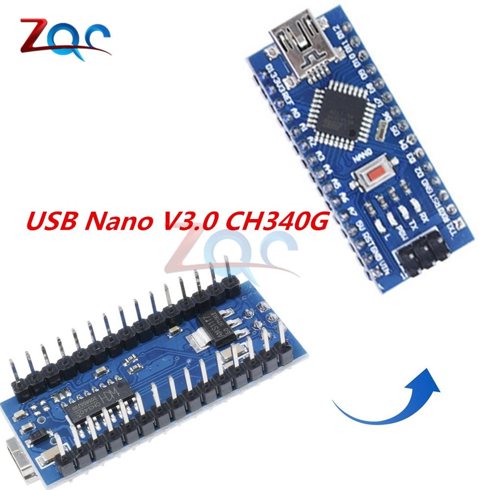 MINI USB Nano V3 0 ATmega328P CH340G 5V 16M Micro-controller board for  Arduino