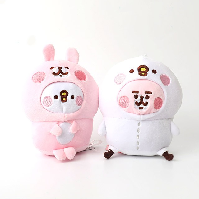 8pcs//set Japan Kanahei Pink Rabbit Plush Dolls Soft Pillow Bunny Toy Gift In Bag