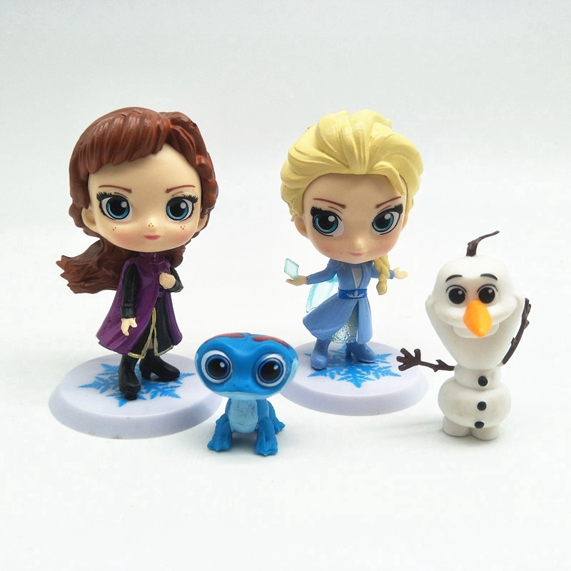 Remarkable 4Pcs Set Frozen Princess Elsa Anna Olaf Playset Doll Figures Funny Birthday Cards Online Alyptdamsfinfo