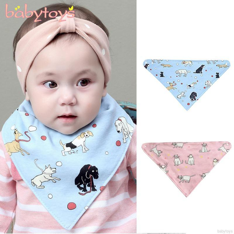 Bandana Bibs Triangle Baby Infant Bids Boy Kids Towel Dribble 4pcs Cloth Saliva