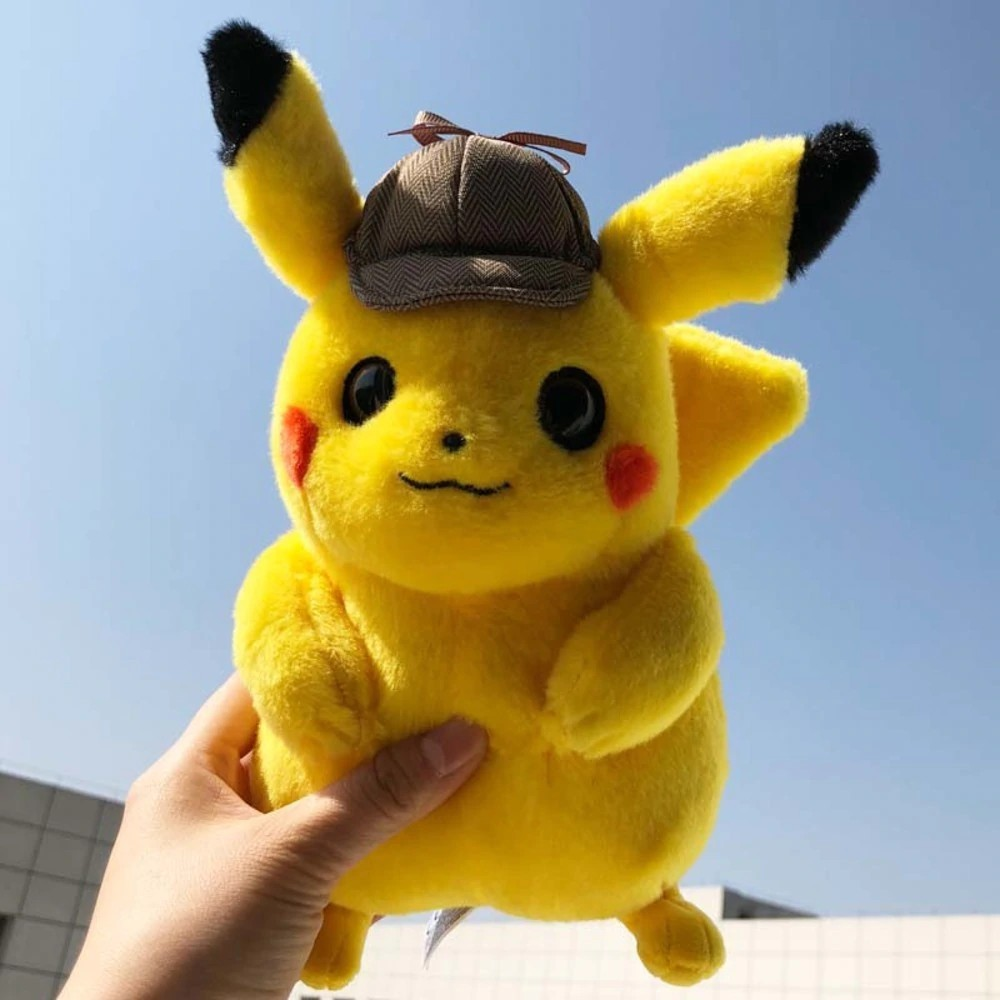 2019 Detective Pikachu Cute Plush kawaii Toys Dark Lightning Dolls Toys Figure