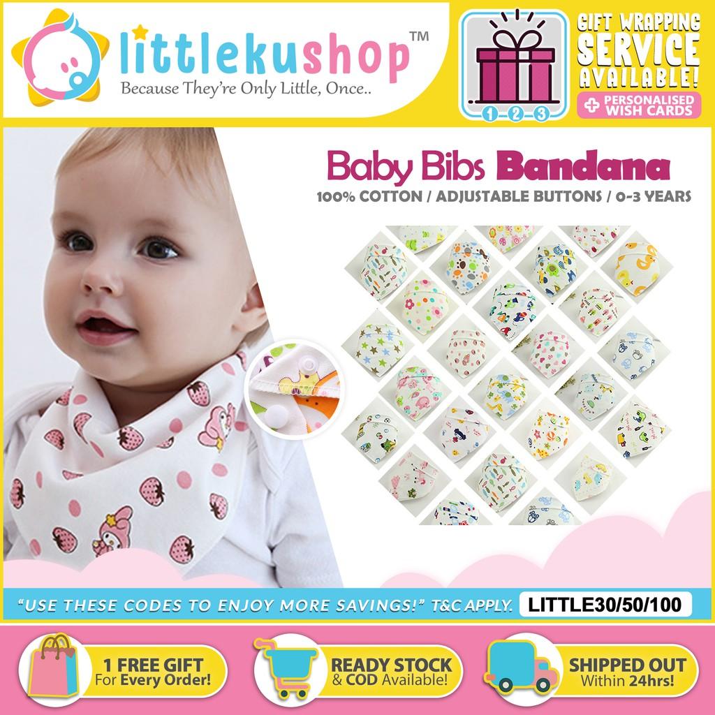 KE/_ Infant Baby Kids Cotton Feeding Saliva Towel Dribble Triangle Bandana Bib