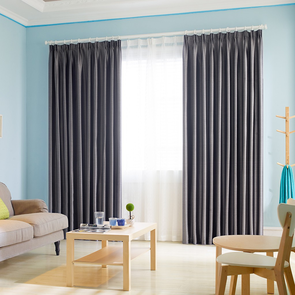 Cityincity Luxury Drapes Blackout Solid Color Curtain For Livingroom And Bedroom