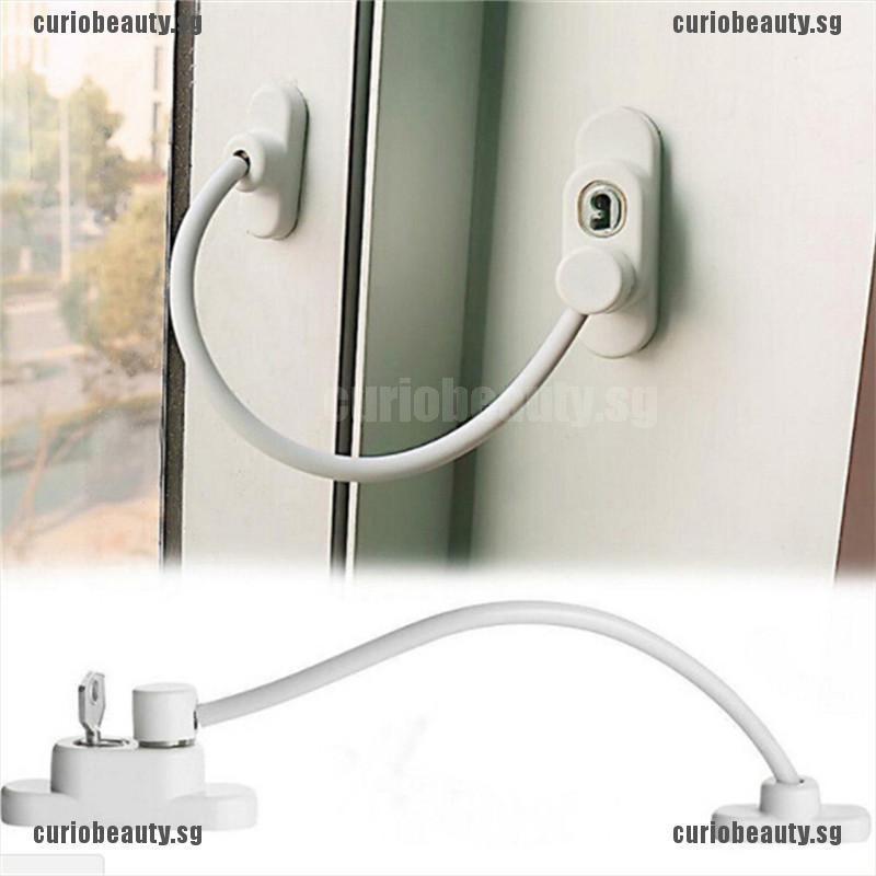 Curio Lockable Window Security Cable Lock Door