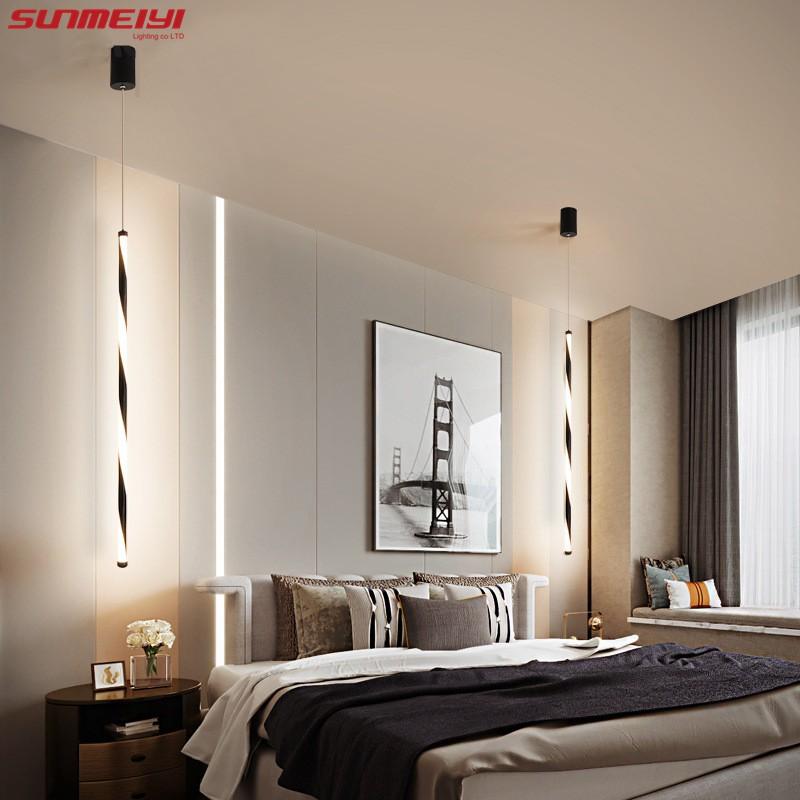 Sunmeiyi Nordic Led Pendant Lights Modern Living Room Aluminum Hanging Lamp Bedroom Bedside Dining Room Suspend Lamp Fixture Shopee Singapore