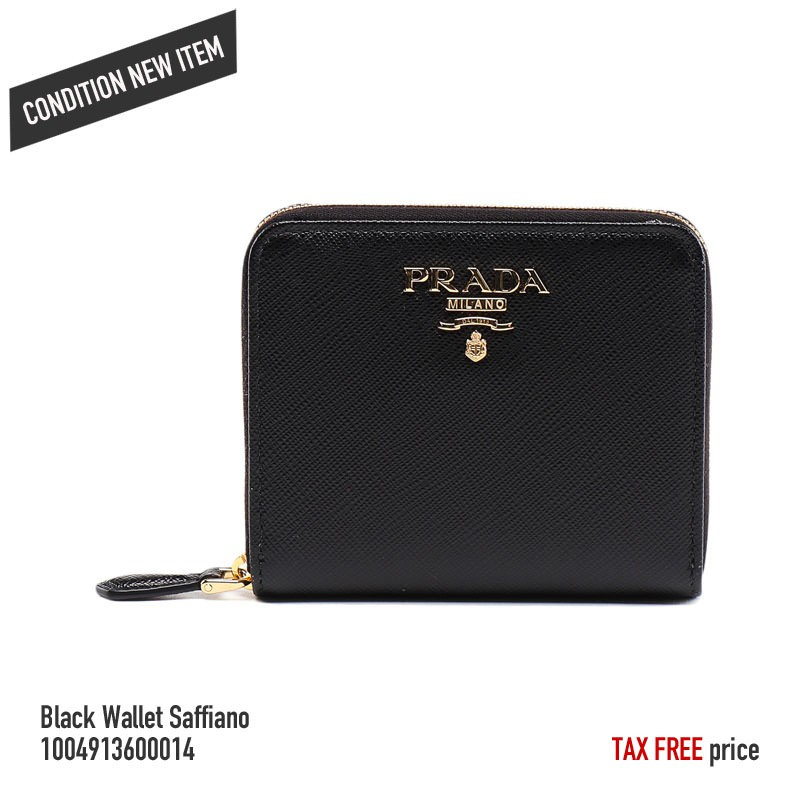 a57376bc [Authentic] PRADA p216 Black Wallet Saffiano 1004913600014[From Japan]