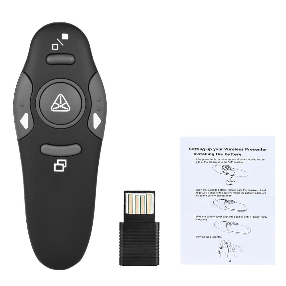 Wireless USB Presentation Remote Control Clicker Laser Light Pointer Pen Lecture | Shopee Singapore