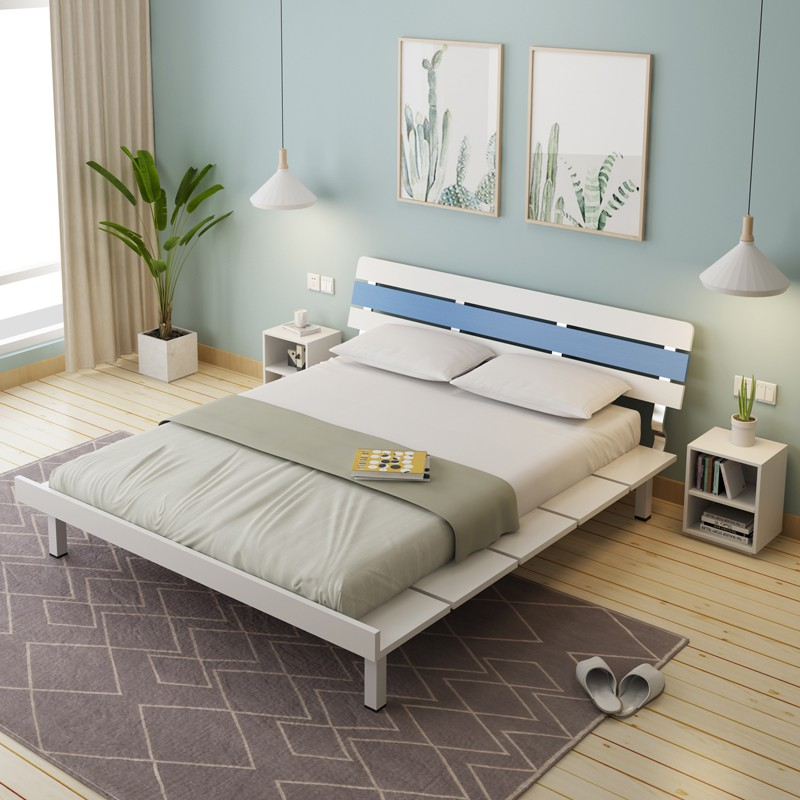 Modern minimalist plate bed Japanese-style tatami master ...