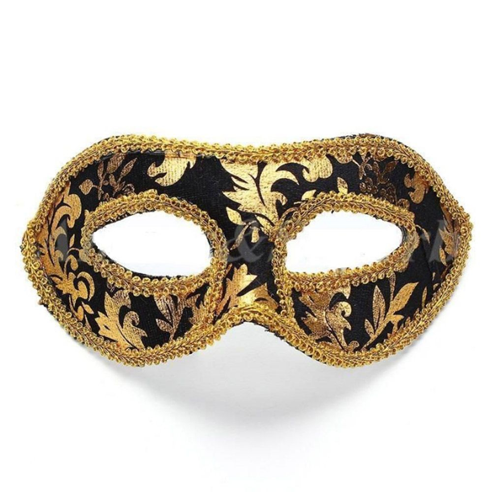 Brown Gold Leather Venetian Masquerade Costume Ball Prom Party Wedding Mask