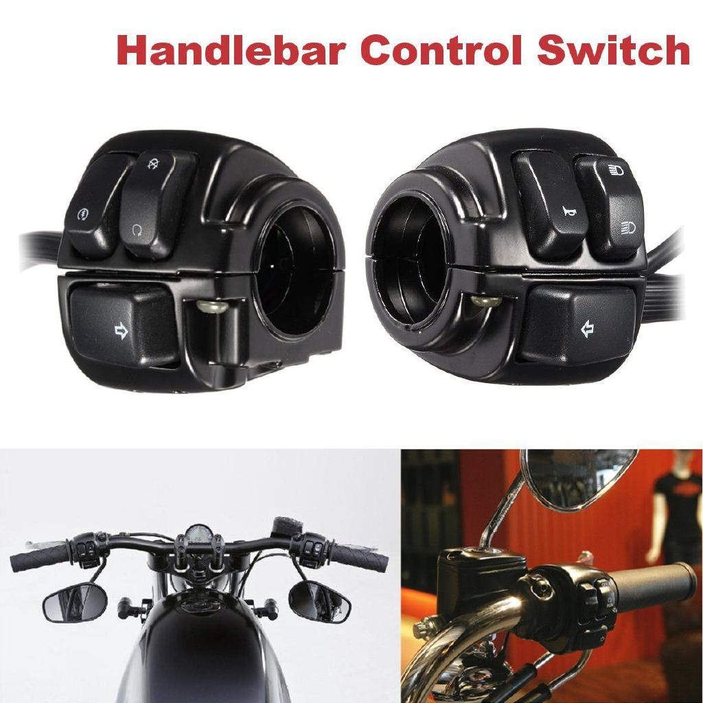 One Pair Motorcycle Handlebar Control Switches+ Wiring Harness For Harley Sportster Wiring Harness on
