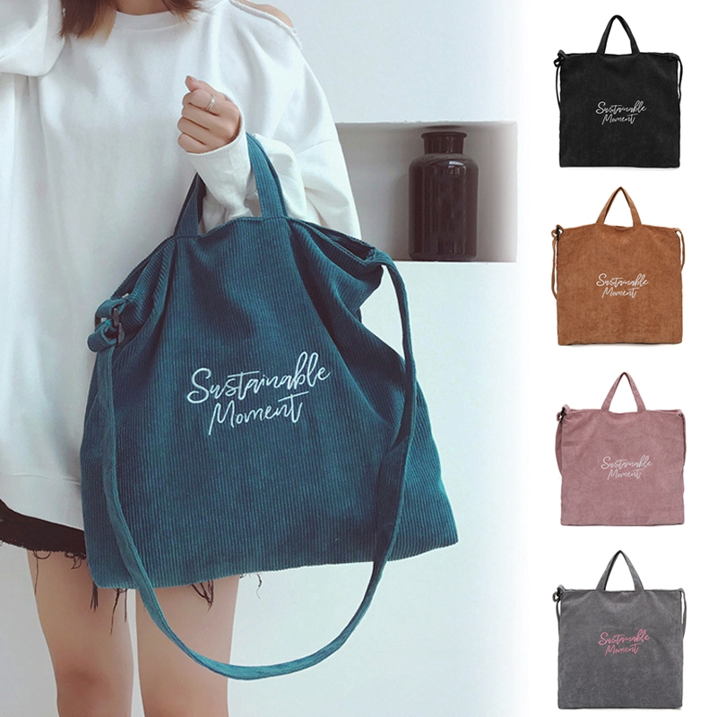 Simple Atmosphere Blue WHXYAA Ladies Canvas Beach Bag Shoulder Bag Tote Bag Large-Capacity Shopping Bag