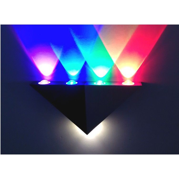 5w Led Wall Sconce Aisle Light Bedroom Hote Triangle Shape Decorative Lights Shopee Singapore