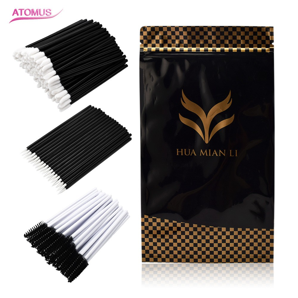150pc Makeup Eyebrow Brush Comb