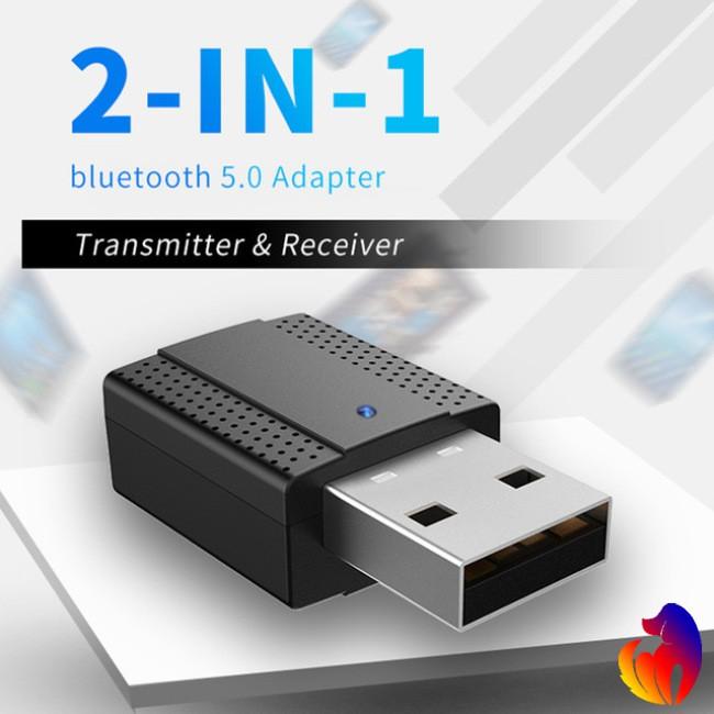 USB Bluetooth Transmitter Receiver 2-in-1 Wireless Audio Adapter Bluetooth 5.0