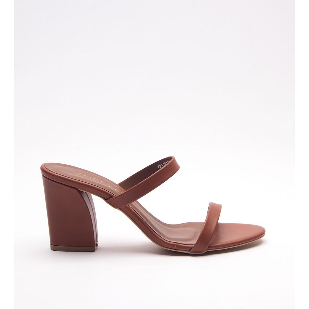 e102cb8c9472 Pearlyn Diamond Stud Leather Ladies Sandal Wedges (Black)