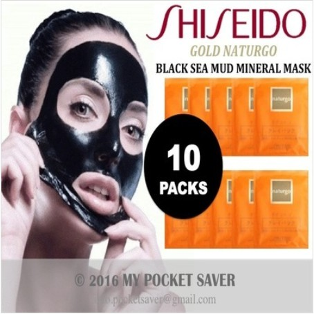 10 PACKS SHISEIDO GOLD NATURGO - BLACK SEA MUD MINERAL MASK | Shopee Singapore