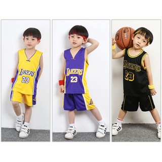 hot sale online 44a10 9e930 NBA Los Angeles Lakers No.23 LeBron James Kids Basketball ...