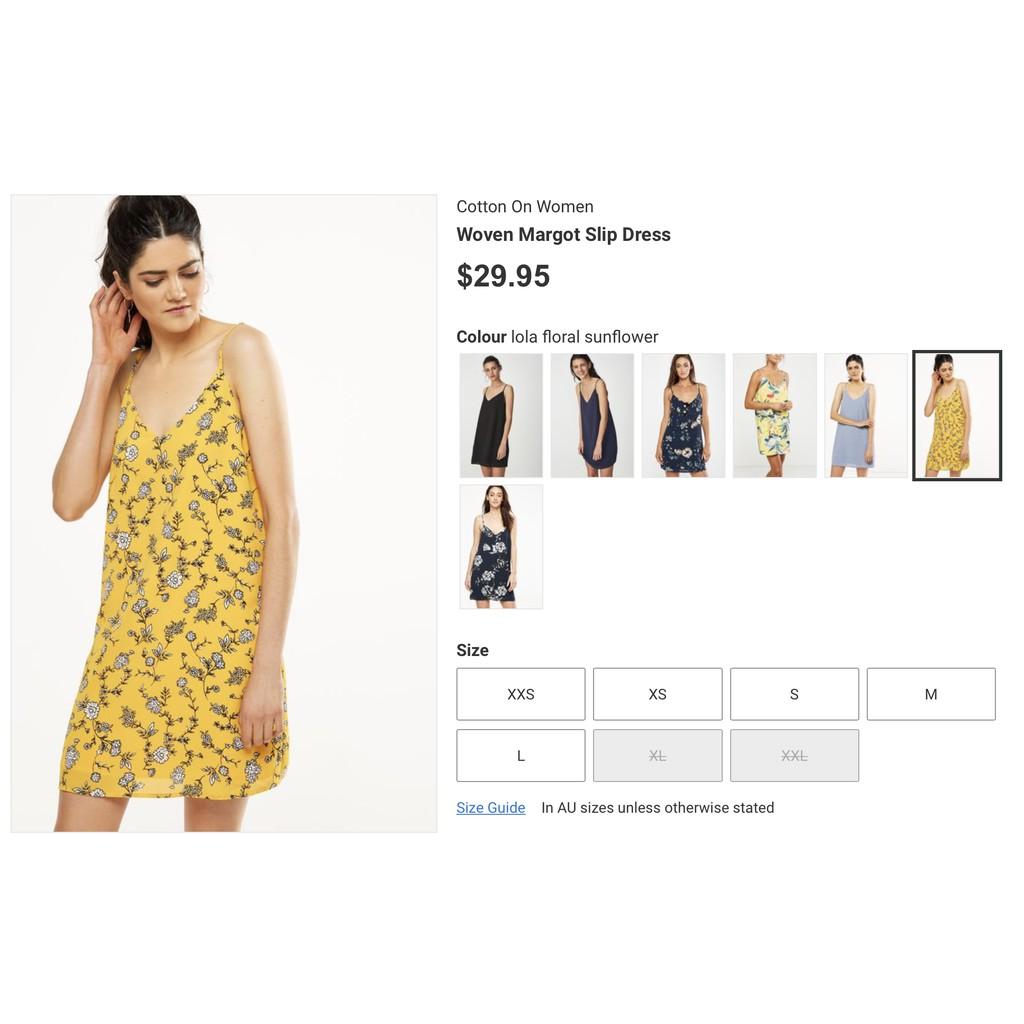 e5288783479449 Cotton On Woven Margot Slip Dress | Shopee Singapore