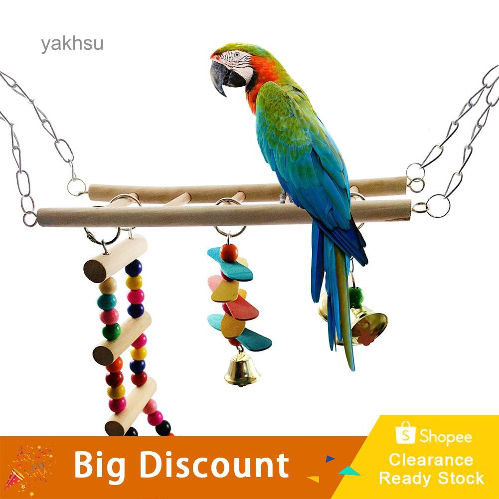 Robe Hooks Home Improvement New Parrot Birds Climbing Net Jungle Rope Animals Toy Swing Ladder Chew Discounts Sale