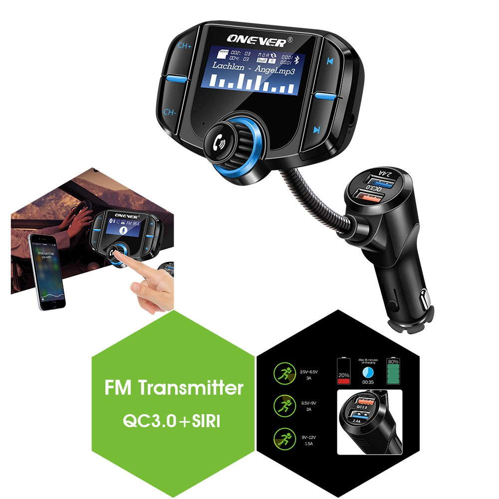 Bluetooth Fm Transmitter With Speaker And 21a Dual Usb Charger Car 9v Radio Adapter Shopee Singapore