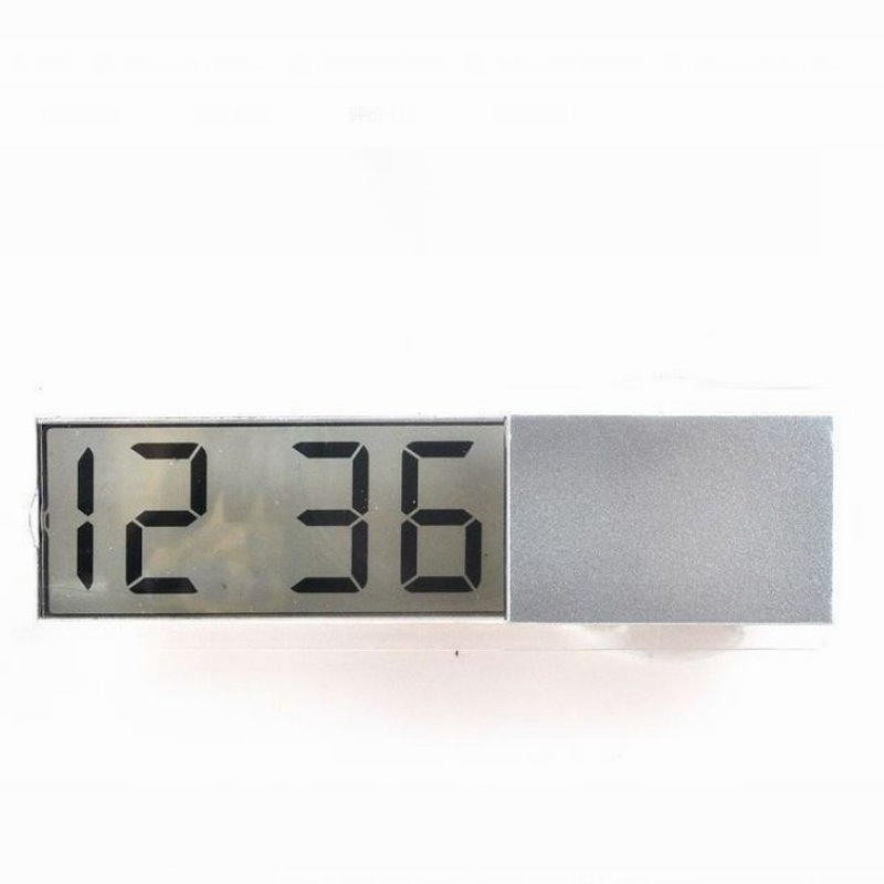 Mini Electronic Desk Alarm Clock Suction Cup Digital LCD Portable For Home//Car