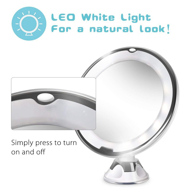 10x Magnifying Lighted Vanity Makeup, Zadro Makeup Mirror Replacement Bulbs
