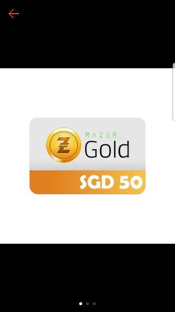 RAZER PIN] SGD 100 Topup/Games/Wallet/Credits/Card/Codes