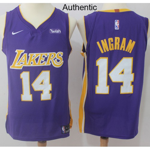 daa8cfd72ad Nice Nike Lakers  2 Lonzo Ball Purple NBA Authentic Statement Edition  Jersey Outlet