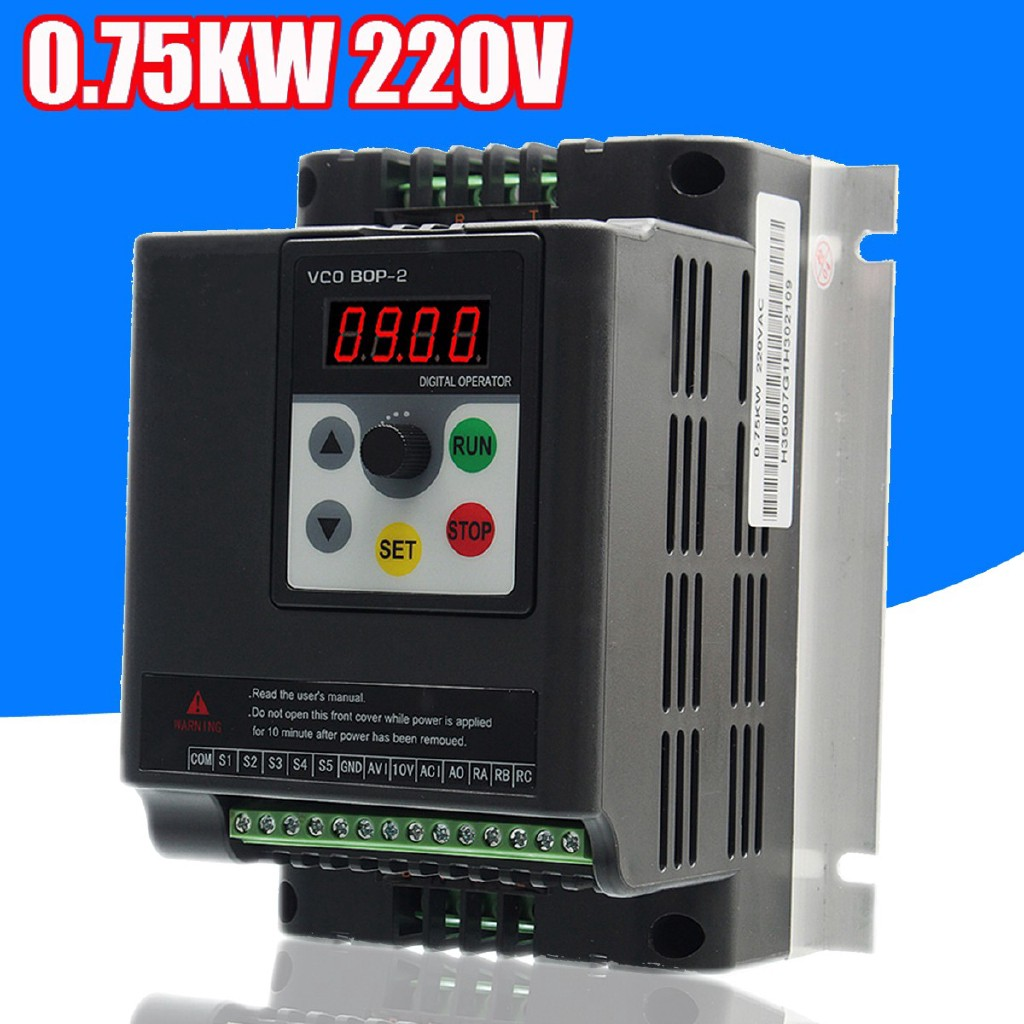 HOT SALE 0 75KW 220V Single To 3 Phase Variable Frequency Inverter Motor  Speed Drive