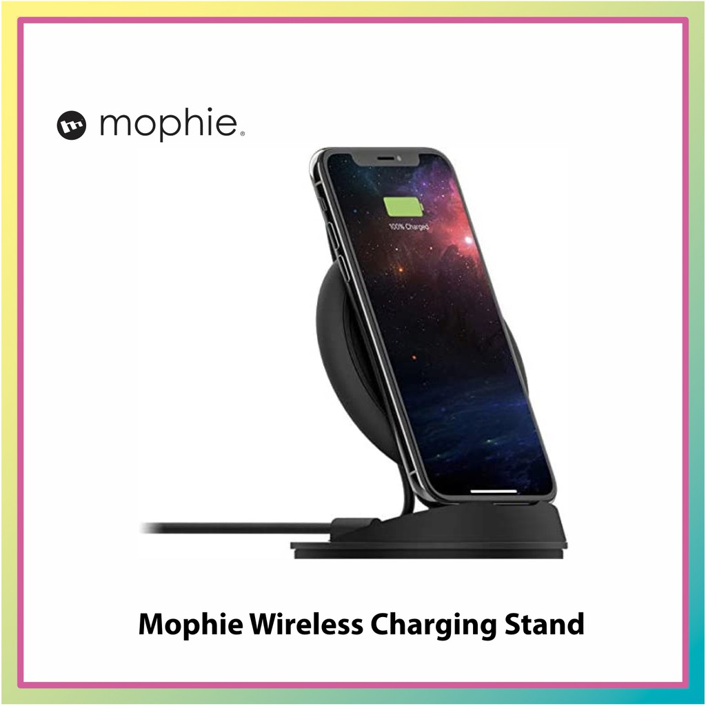 Mophie Wireless Charging Stand Desk Stand Qi Certified For Iphone 11 11 Pro 11 Pro Max Xr Xs Max Xs X 8 8 Plus Shopee Singapore Charge your airpods, apple watch, and iphone in one go. shopee