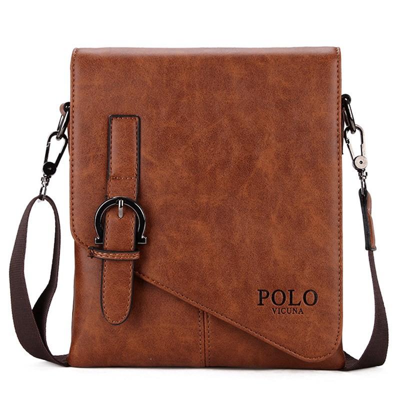 8e03ab96f0 Badenroo 2018 Vintage Men Shoulder Messenger Bags Leather Handbags Brand