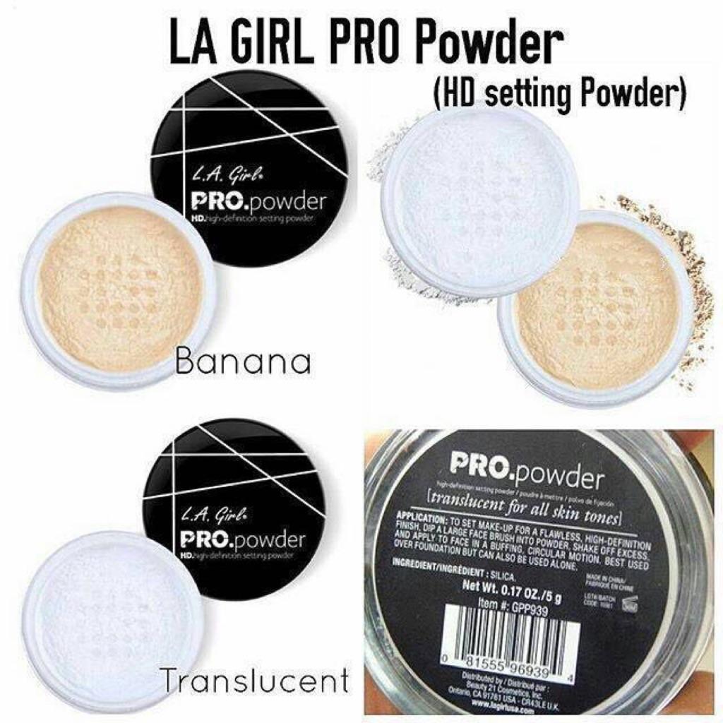 L A  Girl HD PRO Setting Powder Translucent, Banana Yellow (LA Girl)