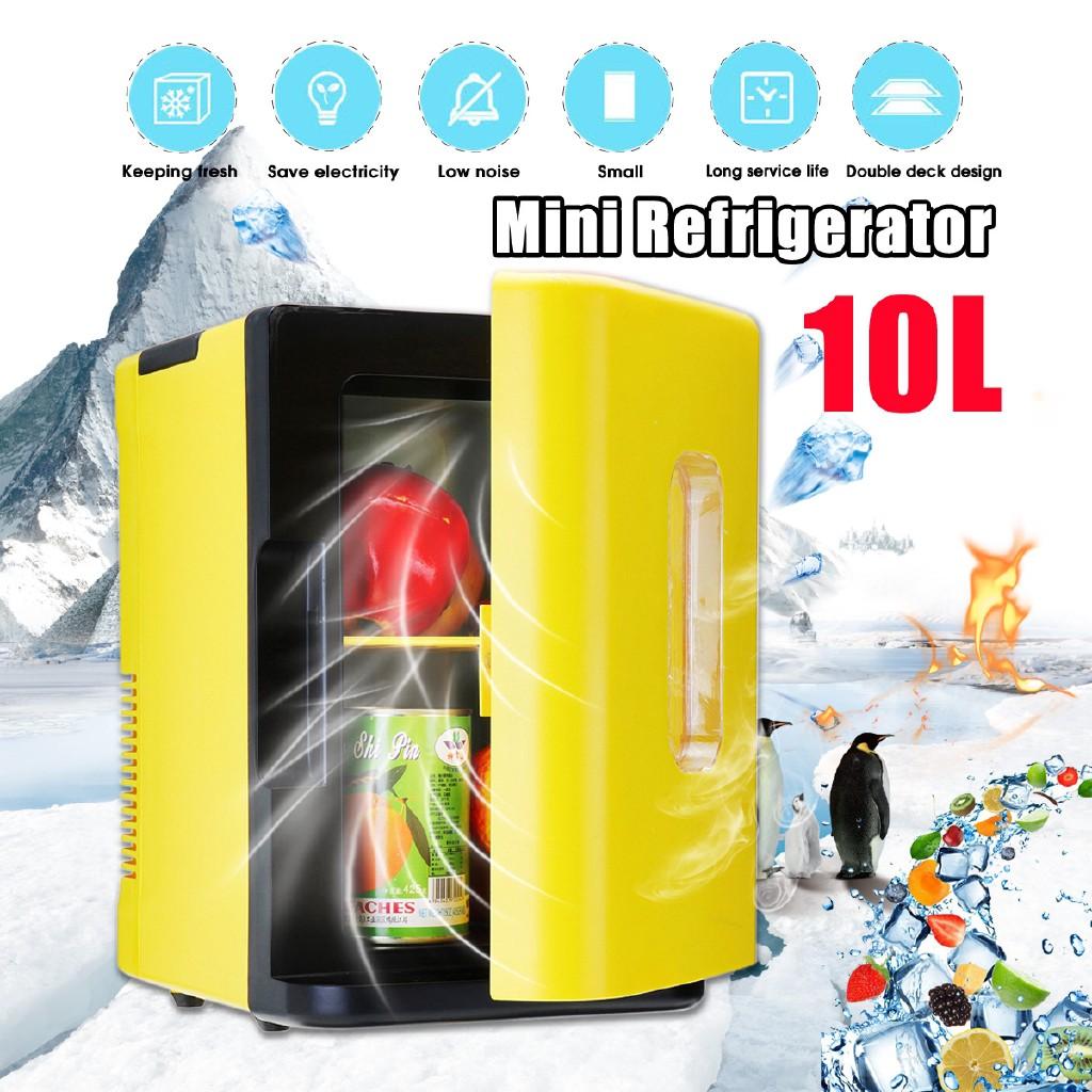 Portable Thermometric Mini Car Fridge Travel Refrigerator Cooler Freezer 20L