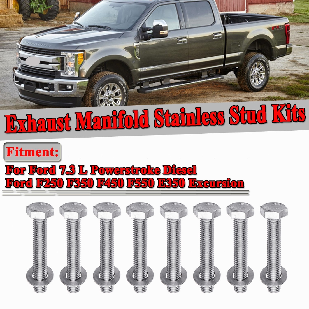 For Ford 7.3 L Powerstroke diesel exhaust manifold Steel Bolt Kit F250 350