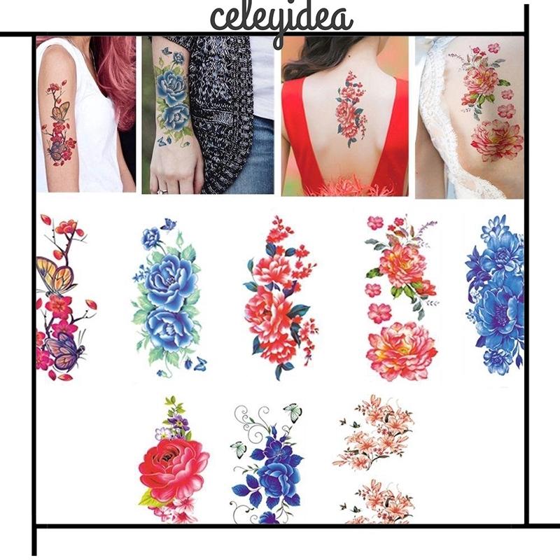 High Quality Waterproof Beauty Flower Tattoos Stickers Temporary Body Art Ydea Shopee Singapore