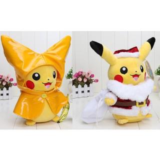 Christmas Pikachu.Free Delivery Pokemon Raincoat And Christmas Santa Pikachu Pokemon Plush
