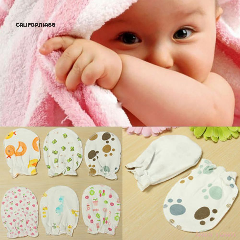 Baby Gloves Anti Scratch Face Hand Guards Protector Soft Newborn Mittens Sleeve