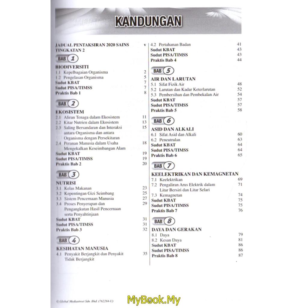 Buku Latihan Sains Tingkatan 2