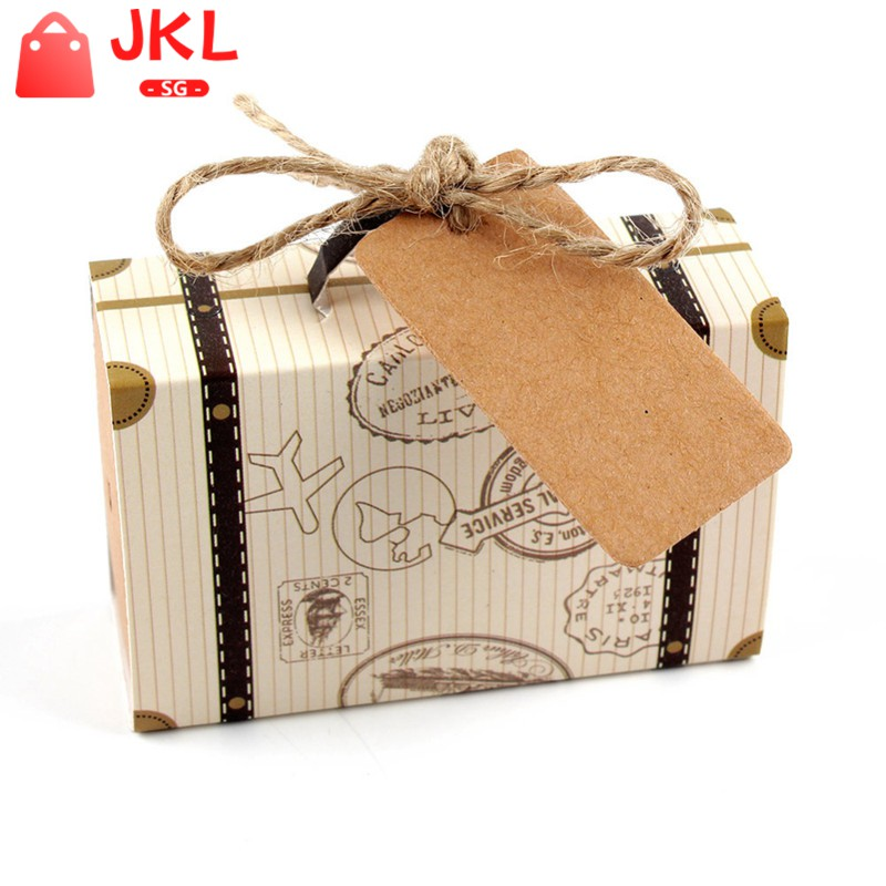 Hot 50X Stamp Design Wedding Vintage Candy Box Chocolate Gift Bag LIN