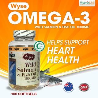 NZ Wyse Halal Omega-3 Wild Salmon and Fish Oil 1000mg