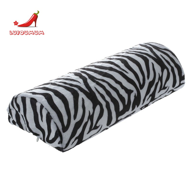 Black With White Zebra Stripe Hand Rest Soft Cushion Pillow Nail Art Design Manicure Half Column Shopee Singapore
