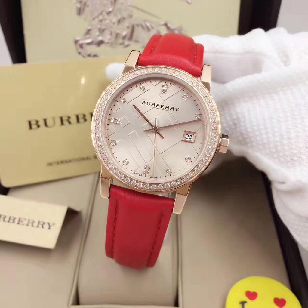 Burberry Bu9109 Original Luxury Brand Women Fashion Quartz Wrist Watches Fossil Fs5182 Set Coach 14501601 Wristwatch Shopee Singapore