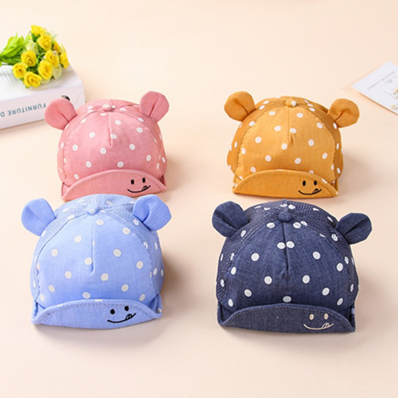 42989bed7b4 ProductImage. ProductImage. Dots Little Ear Hat Kids Cap Newborn Toddler  Baby Girl Boy
